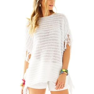 Lilly Pulitzer Oceania Sweater Coverup Top